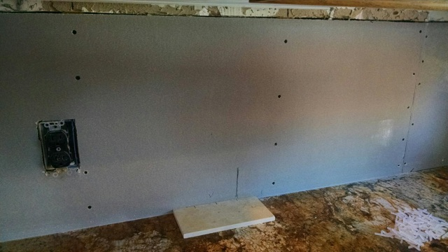 New drywall up before tile is set